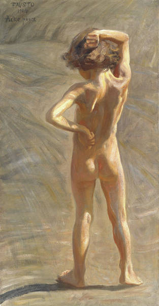 Study Of A Nude Boy Art Print