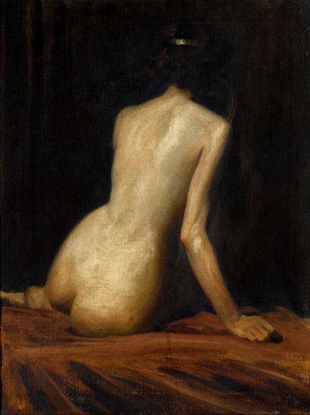 Wall Art - Painting - Study Of A Nude Recruit To The Harem by Albert Henry Collings