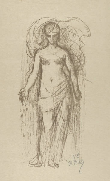 Relief - Study Of A Woman  by Pierre Puvis de Chavannes