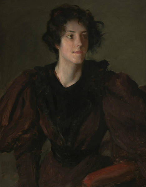 Painting - Study Of A Young Woman by William Merritt Chase