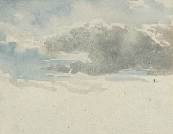 Drawing - Study Of Clouds by David Cox