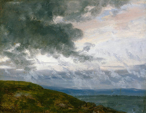 Painting - Study Of Drifting Clouds by Johan Christian Dahl