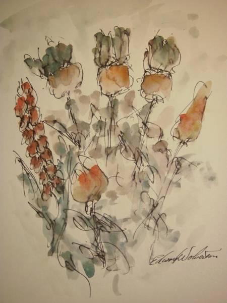 Study Of Flowers V Art Print by Edward Wolverton