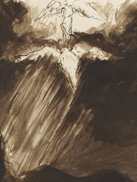 Beam Drawing - Study Of Jacob's Dream by John Constable
