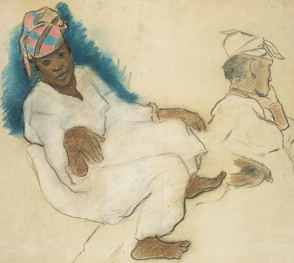 Crayon Drawing - Study Of Martinique Women by Paul Gauguin