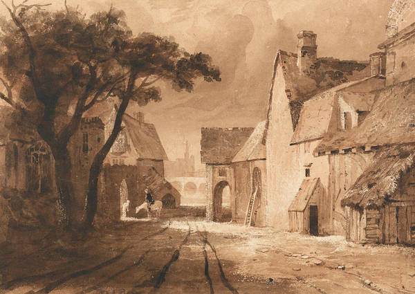 Drawing - Study Of Old Buildings by Samuel Palmer