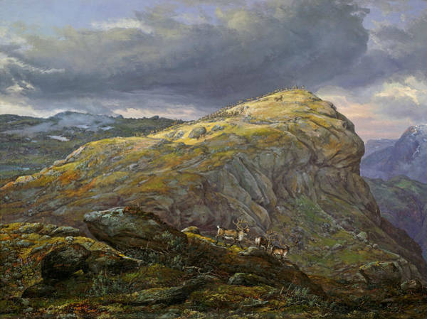 Painting - Stugunoset At Filefjell by Johan Christian Dahl