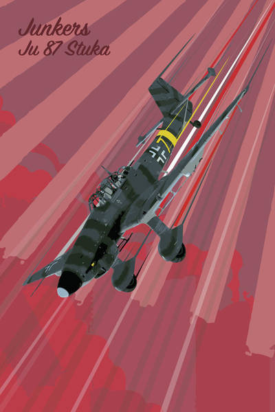 Wall Art - Digital Art - Stuka Pop Art by J Biggadike