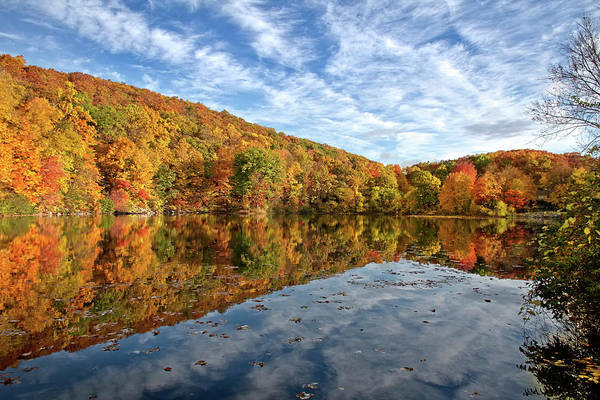 Vernon County Photograph - Stump Pond In Fall At Pleasant Valley Lake by John Prause