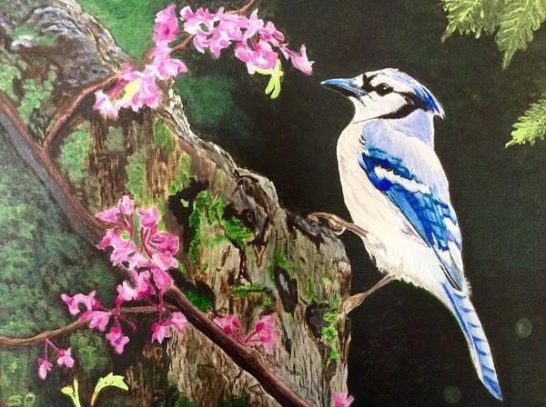 Painting - Stump Sitter by Sonja Jones