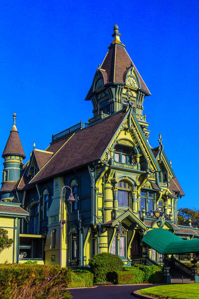 Queen Anne Style Photograph - Stunning Carson Mansion by Garry Gay