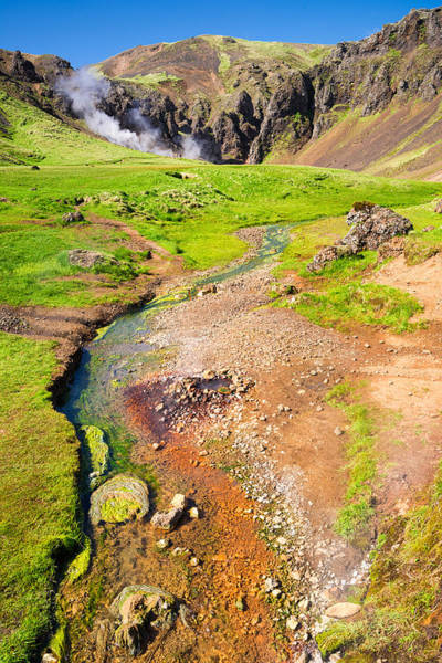 Photograph - Stunning Green Orange And Brown Geothermal Landscape In Iceland by Matthias Hauser