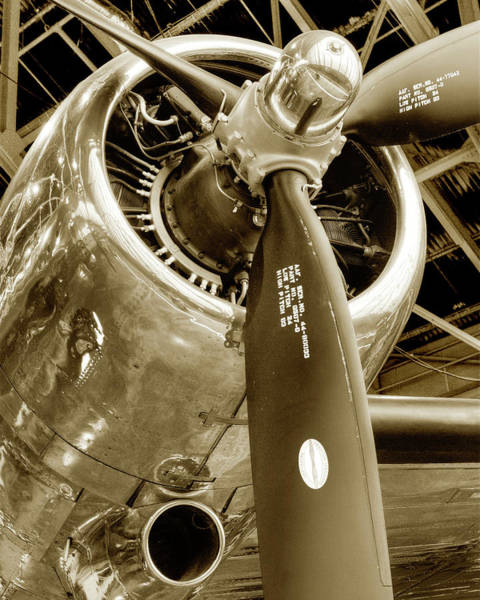 Photograph - Stunning Propeller In Sepia by Dennis Dame