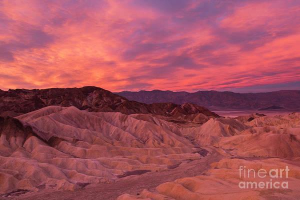 Death Valley Np Photograph - Stunning Sunrise Over Zabriskie by Brenda Tharp