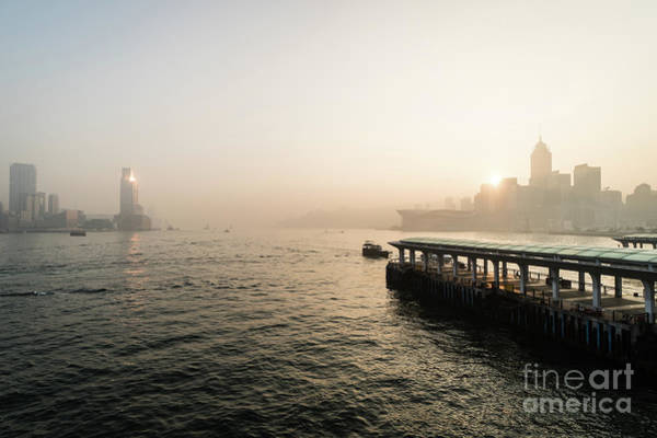 Photograph - Stunning Sunrise Over The Victoria Harbor In Hong Kong. by Didier Marti
