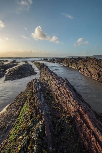 West Wales Photograph - Stunning Sunset Landscape Image Of Freshwater West Beach On Pemb by Matthew Gibson