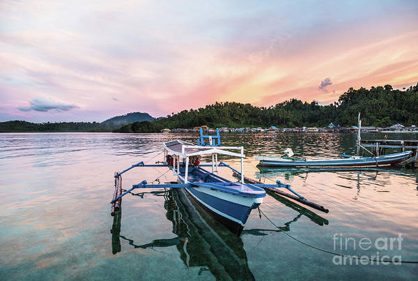 Photograph - Stunning Sunset Over A Traditional Boat In Sulawesi by Didier Marti