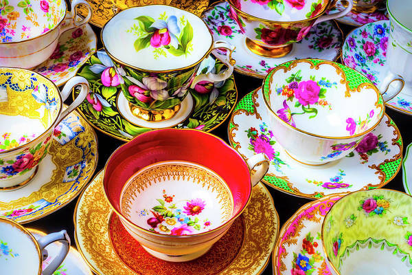 Saucer Photograph - Stunning Tea Cups by Garry Gay