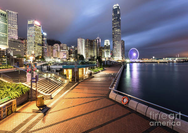 Photograph - Stunning View Of Hong Kong Central Business District Skyscrapers by Didier Marti