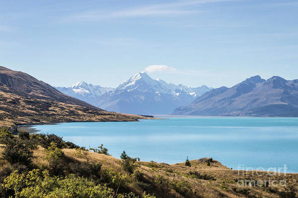 Photograph - Stunning View Of Lake Pukaki And Mt Cook  by Didier Marti