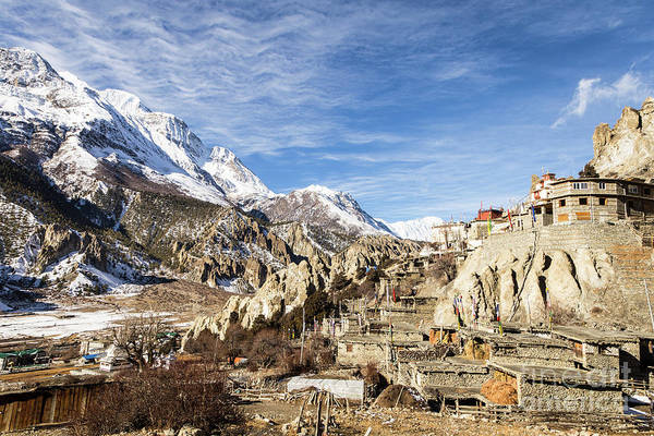 Photograph - Stunning View Of The Annapurna Mountain Range And Braga Monaster by Didier Marti