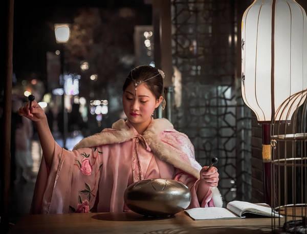 Photograph - Stunning Woman Plays Traditional Chinese Music. by Matt Shiffler