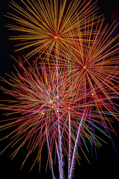 Fireworks Display Wall Art - Photograph - Stunningly Beautiful Fireworks by Garry Gay