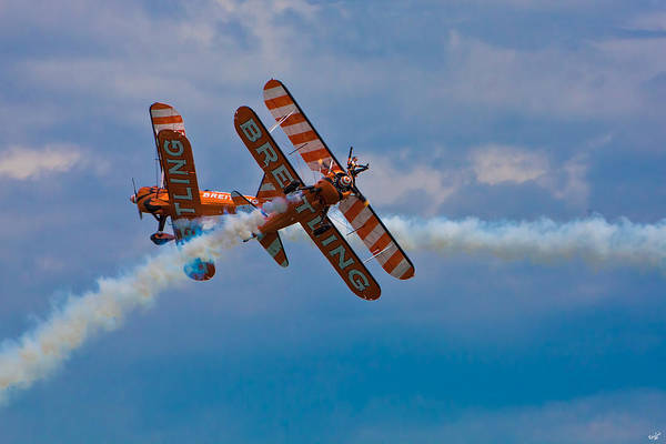 Photograph - Stunt Biplanes With Wingwalkers by Chris Lord