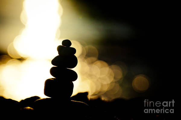 Photograph - Stupa At Sea Coast Seascape Buddha by Raimond Klavins