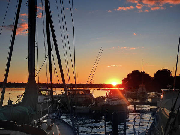Photograph - Sturgeon Bay Sunset by Rod Seel