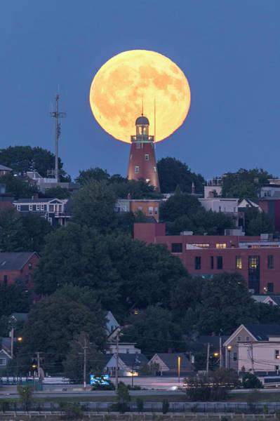 Sturgeon Moon Over Portland Observatory Art Print