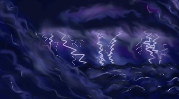 Painting - Sturm Und Drang by Jean Pacheco Ravinski