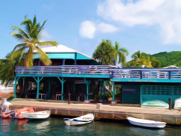 Us Virgin Islands Painting - Stxx  Christiansted Us Virgin Islands by Linda Morland