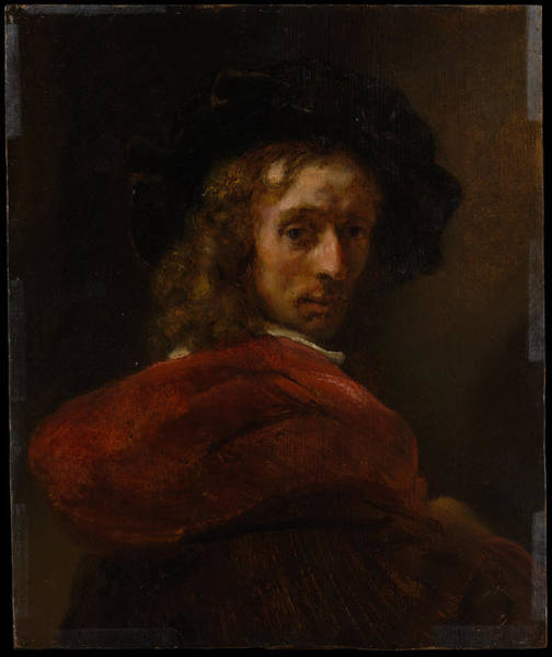 Cloak Digital Art - Style Of Rembrandt    Man In A Red Cloak by Mery Moon