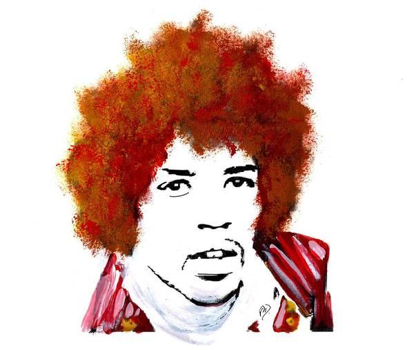 Stylized Hendrix Art Print