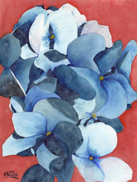 Painting - Stylized Hydrangea by Ken Powers