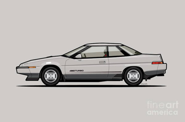 Wall Art - Digital Art - Subaru Alcyone Xt-turbo Vortex Silver by Monkey Crisis On Mars