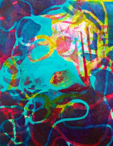 Painting - Subliminal Questions by Polly Castor