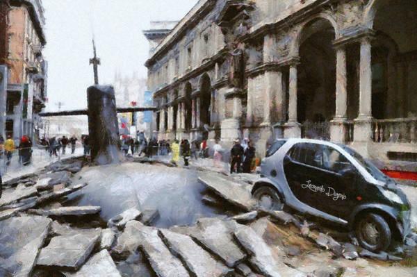 Car Accident Painting - Submarine Accident by Leonardo Digenio