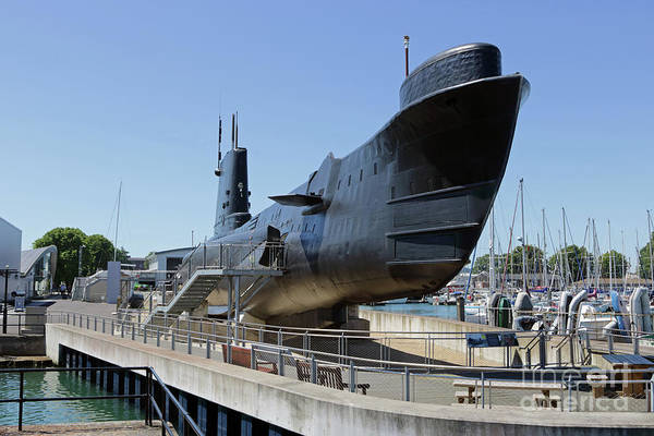 Photograph - Submarine Portsmouth by Julia Gavin