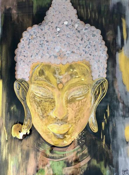 Painting - Golden Buddha  by Sorys Acevedo