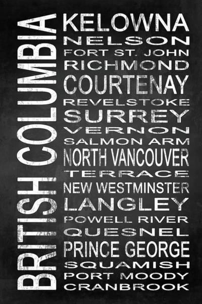 Vancouver Digital Art - Subway British Columbia Canada 2 by Melissa Smith