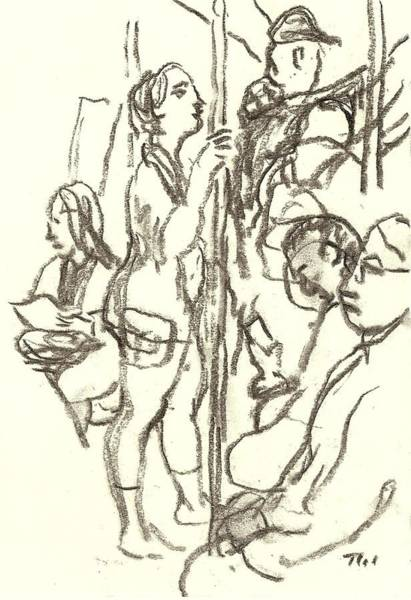 Drawing - Subway Composition, Nyc by Thor Wickstrom