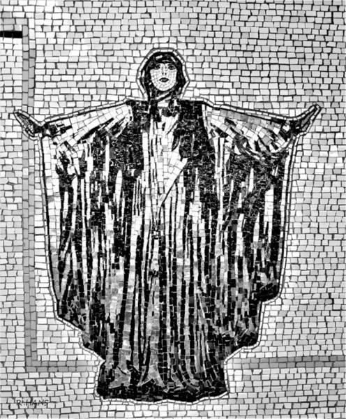 Photograph - Subway Mosaic Women B W by Rob Hans