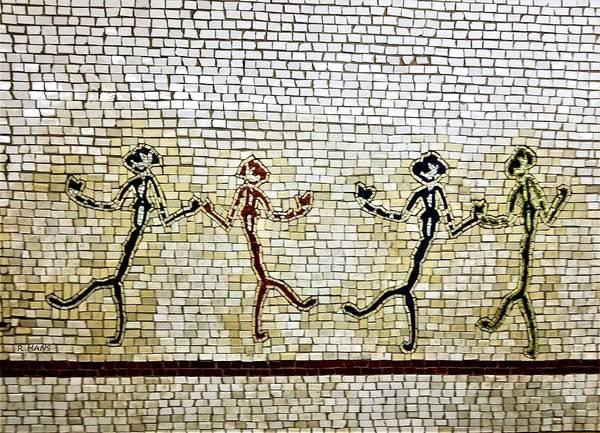 Photograph - Subway Mosaic Egypian Chorus Line by Rob Hans