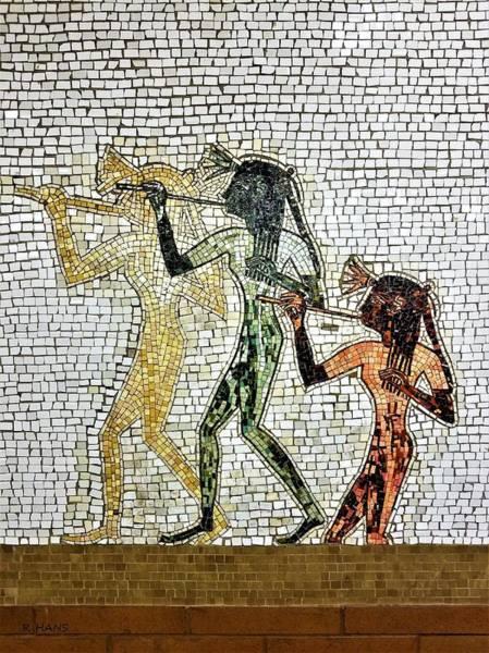 Photograph - Subway Mosaic Egypians by Rob Hans