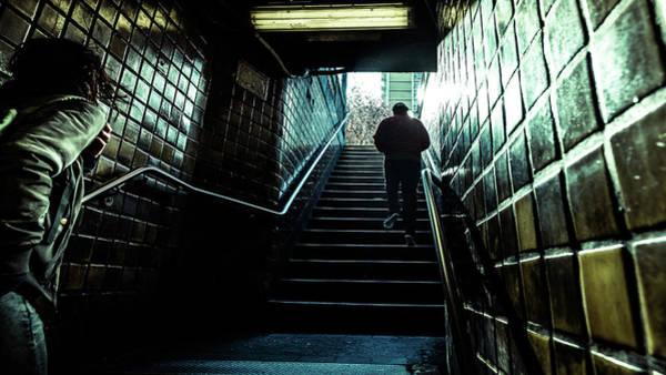 Faceless Photograph - Subway - New York - Color Street Photography by Giuseppe Milo