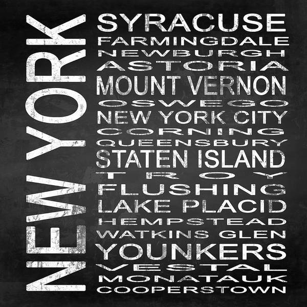 Lake District Digital Art - Subway New York State 2 Square by Melissa Smith