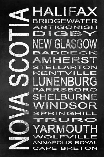 Halifax Nova Scotia Digital Art - Subway Nova Scotia Canada 1 by Melissa Smith