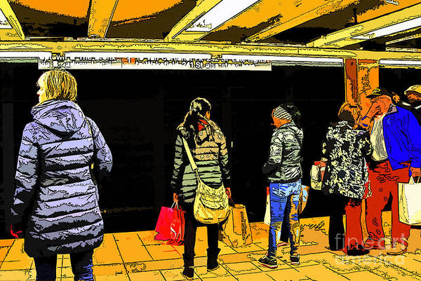 Subway Platform Art Print by Gino Inocentes